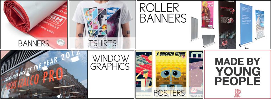 Print studio page graphics
